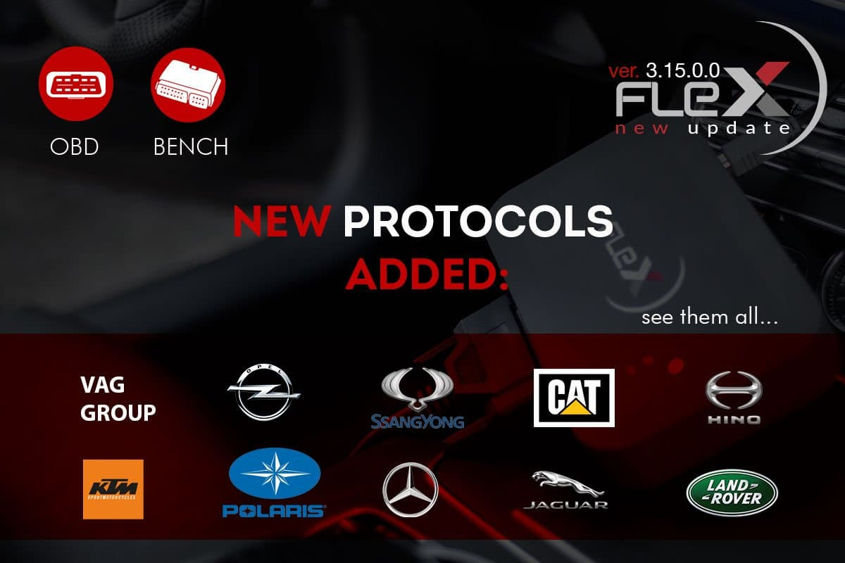 New OBD and Bench protocols for vehicles and tractors