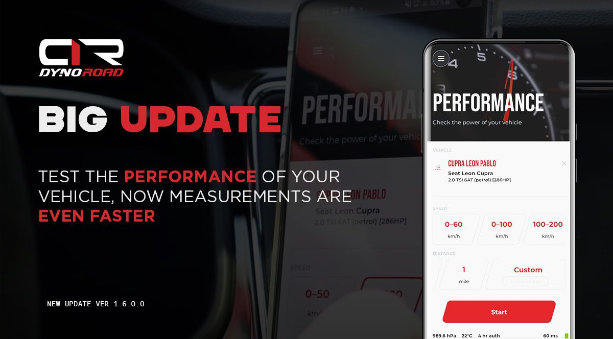 DynoRoad software with the new performance function
